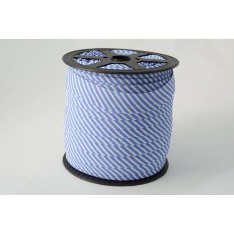 Cotton bias binding2mm dark blue stripes