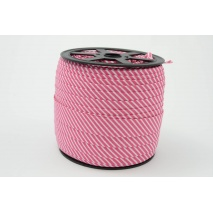 Cotton bias binding 2mm fuchsia stripes