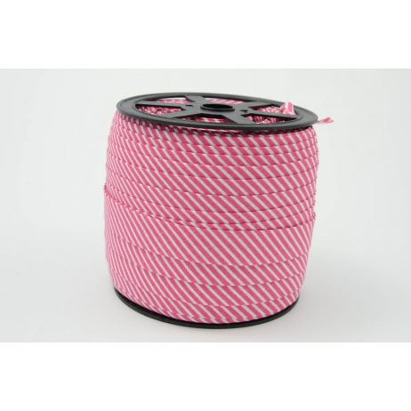 Cotton bias binding2mm fuchsia stripes