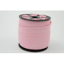 Cotton bias binding 2mm pink stripes