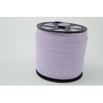 Cotton bias binding 2mm violet stripes
