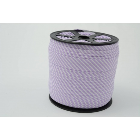 Lamówka bawełniana w 2mm fioletowe paseczki