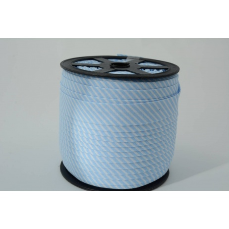 Cotton bias binding2mm blue stripes