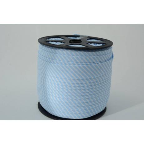 Lamówka bawełniana w 2mm niebieskie paseczki