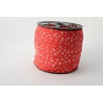 Lamówka bawełniana łączka na czerwonym tle