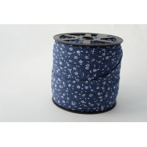 Cotton bias binding meadow on a navy background
