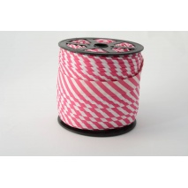 Cotton bias binding 5mm fuchsia stripes