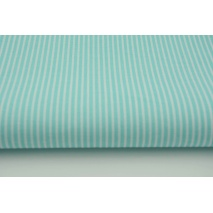 Cotton 100% turquoise stripes 2x1mm