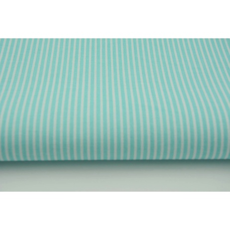 Cotton 100% turquoise stripes 2mm
