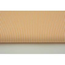 Bawełna 100% brzoskwiniowe paski 2x1mm na białym tle