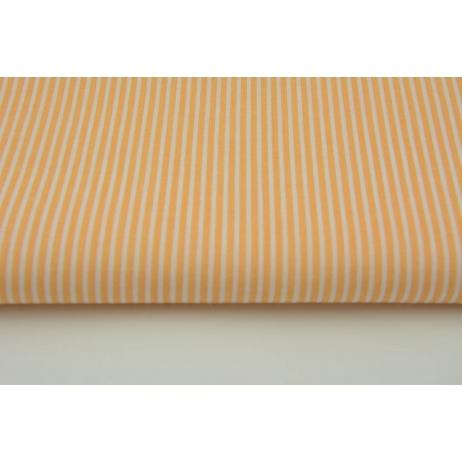 Bawełna brzoskwiniowe paski 2x1mm na białym tle