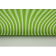Cotton 100% green stripes 2x1mm