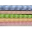 Cotton 100% green stripes 2x1mm