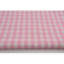 Bawełna 100% różowa kratka vichy, dwustronna 1cm