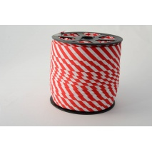 Cotton bias binding 5mm red stripes