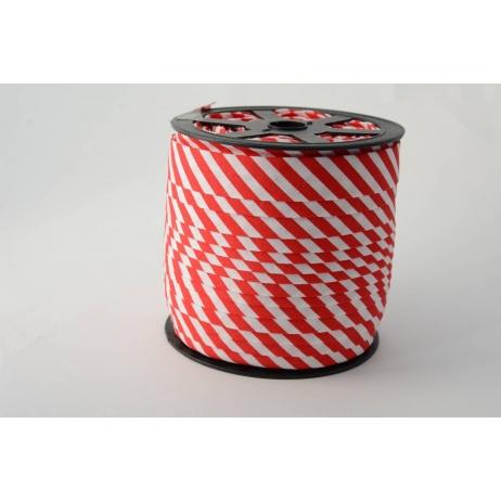 Lamówka bawełniana w 5mm czerwone paseczki