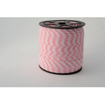 Cotton bias binding 5mm pink stripes
