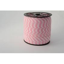Cotton bias binding 5mm pink stripes