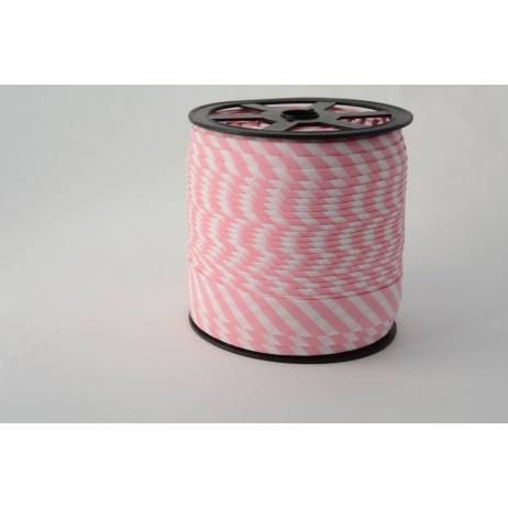 Lamówka bawełniana w 5mm różowe paseczki