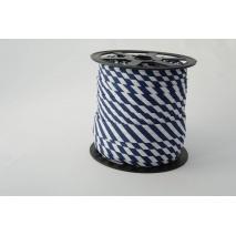 Cotton bias binding 5mm navy blue stripes