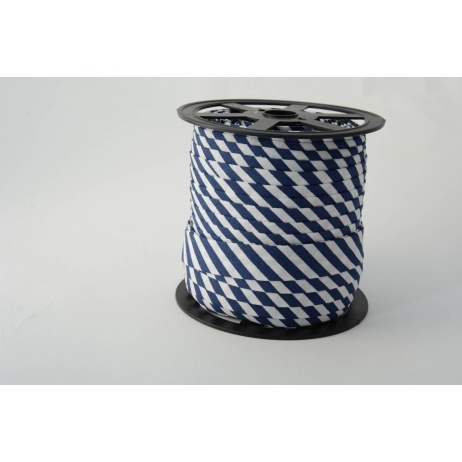 Cotton bias binding 5mm navy blue stripes