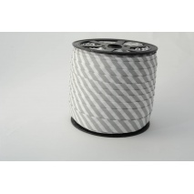 Cotton bias binding 5mm gray stripes