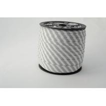 Cotton bias binding 5mm gray stripes