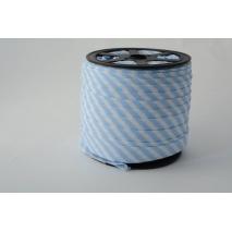 Lamówka bawełniana w 5mm niebieskie paseczki