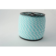 Cotton bias binding 5mm turquoise stripes
