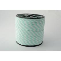 Cotton bias binding 5mm mint stripes
