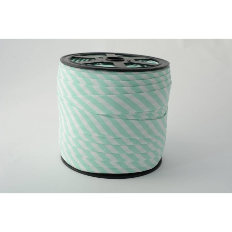Cotton bias binding 5mm mint stripes