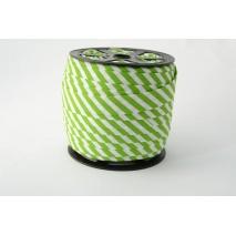 Lamówka bawełniana w 5mm zielone paseczki