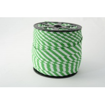 Cotton bias binding 5mm dark green stripes