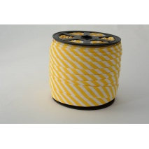 Cotton bias binding 5mm yellow stripes