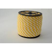 Cotton bias binding 5mm yellow stripes