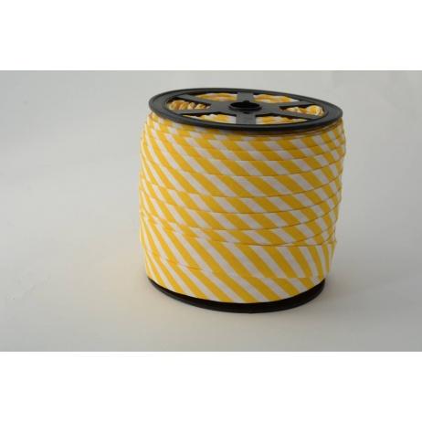 Lamówka bawełniana w 5mm żółte paseczki