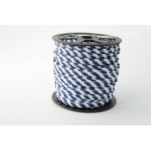 Cotton edging ribbon 5mm navy blue stripes