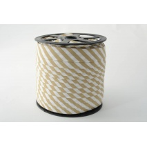 Cotton bias binding 5mm beige stripes