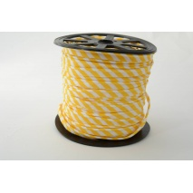 Wypustka 100% bawełna 5mm żółte paseczki