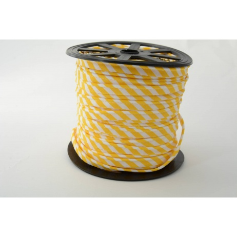 Cotton edging ribbon 5mm yellow stripes