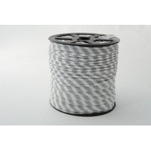 Cotton edging ribbon 5mm light gray stripes
