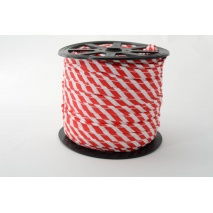 Cotton edging ribbon 5mm red stripes