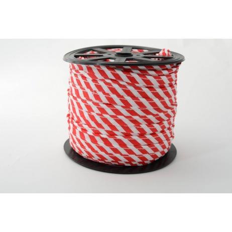 Wypustka, bawełna, paski 5mm czerwone
