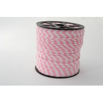 Cotton edging ribbon 5mm pink stripes
