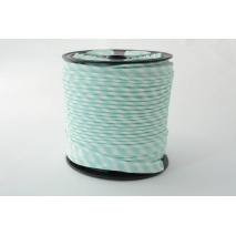 Cotton edging ribbon 5mm mint stripes