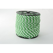 Cotton edging ribbon 5mm dark green stripes