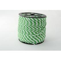 Wypustka, bawełna, paski 5mm c. zielone