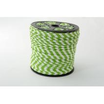 Wypustka, bawełna, paski 5mm zielone