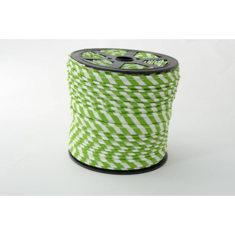 Cotton edging ribbon 5mm green stripes
