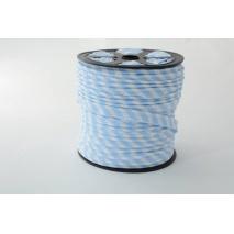 Wypustka, bawełna, paski 5mm niebieskie